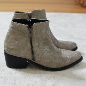 Free People Embroidered Western Booties